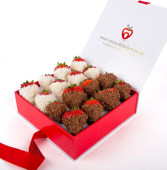 Chocolate Berry Box with Vermicelli & Coconut