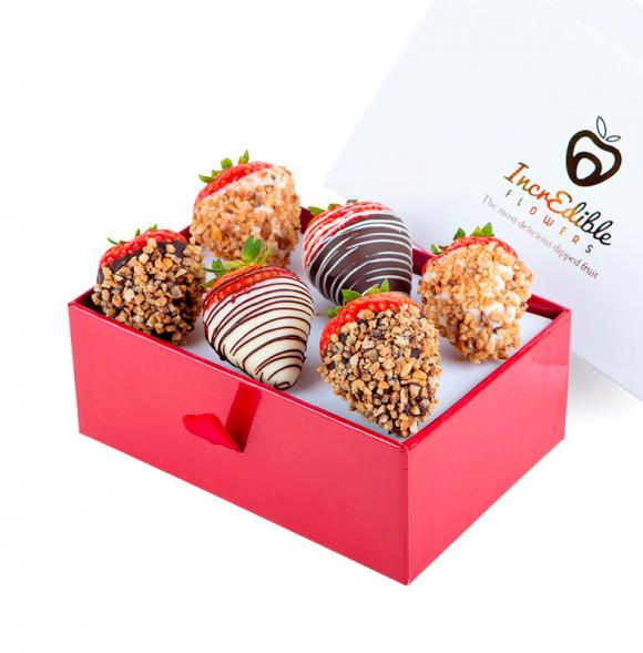 Mini Chocolate Berry Box with nuts