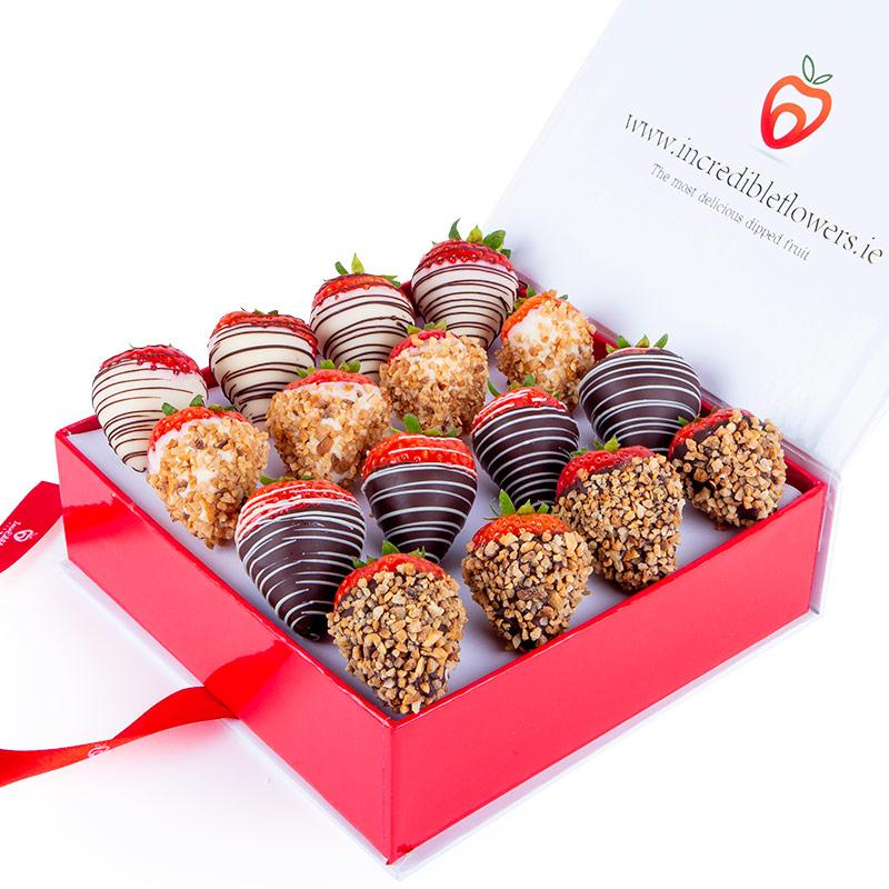 Chocolate Berry Box with nuts