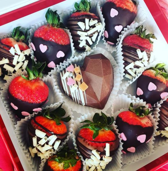 Berry Box with a Chocolate Heart