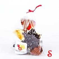 Chocolate dipped fruit gift bag